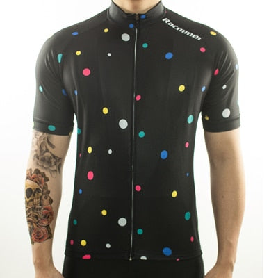 Racmmer Colorful Dots Short Sleeve Cycling Jersey