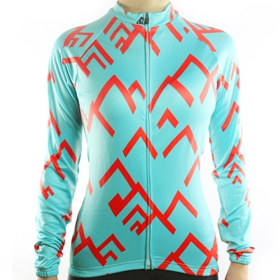 Womens Racmmer Mountains Long Sleeve Cycling Jersey