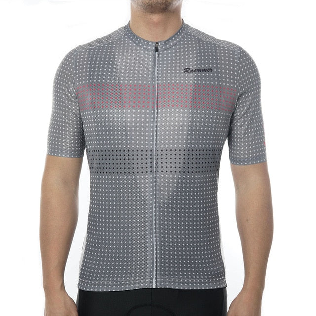 Racmmer PRO FIT Dark Geometry Short Sleeve Cycling Jersey