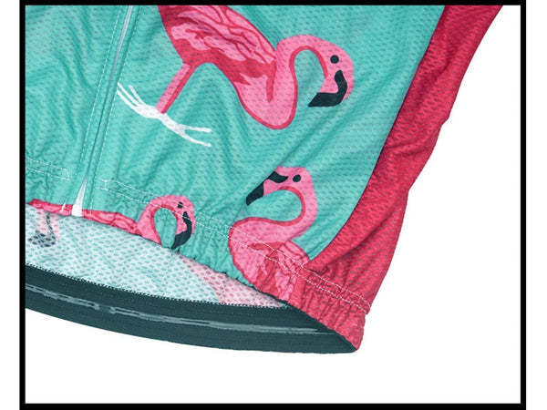 Racmmer PRO FIT Flamingo Short Sleeve Cycling Jersey