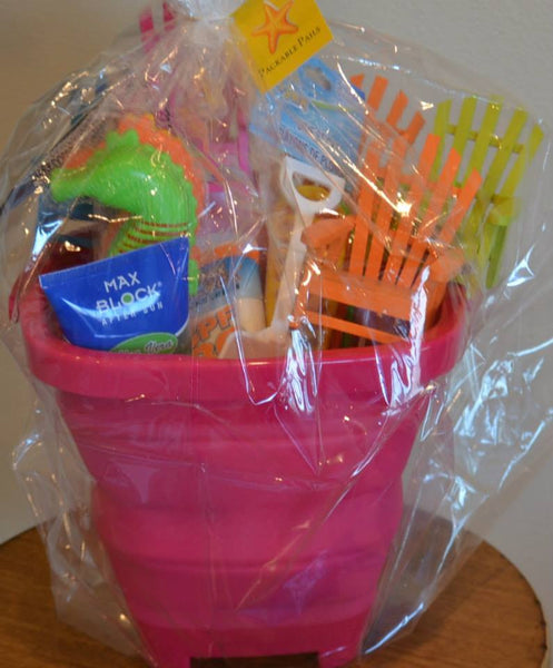 Packable Pails - Paradise Pink Pail with White Shovel- - Packable Pails, LLC  - 7