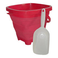 Packable Pails - Paradise Pink Pail with White Shovel- - Packable Pails, LLC  - 1