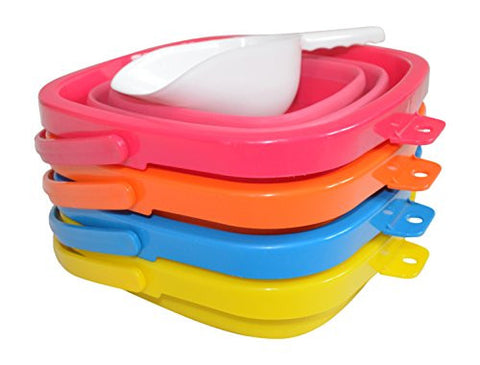 4 Pack Pail Bundle (Pink, Blue, Yellow, and Orange) - Packable Pails, LLC  - 1