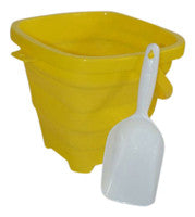 Packable Pails - Sunshine Yellow Pail with White Shovel - Packable Pails, LLC  - 1