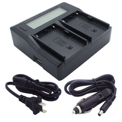 Kapaxen™ BC-U2 Dual Channel LCD Charger for Sony BP-U30, BP-U60, and BP-U90 Camcorder Batteries