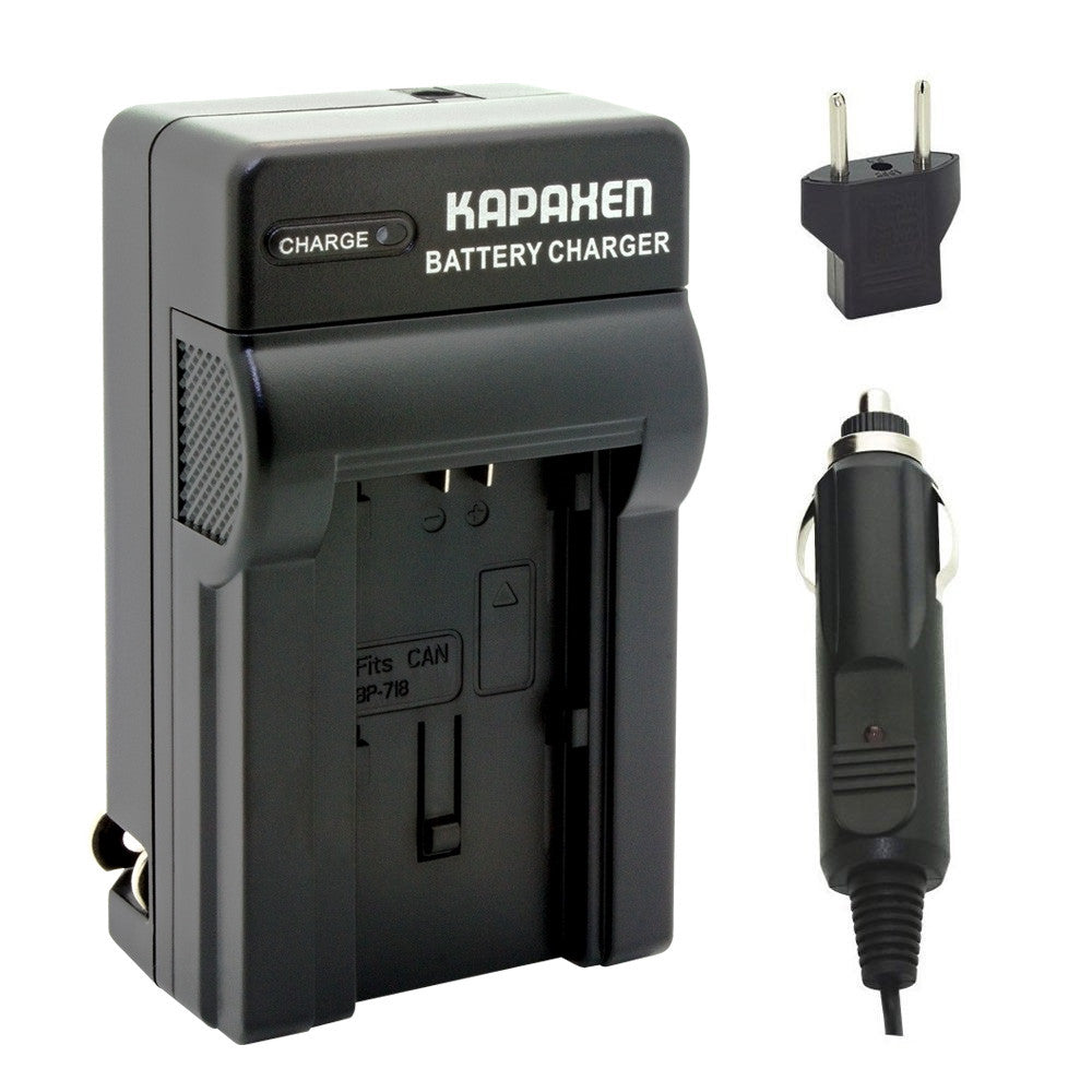 Kapaxen™ CG-700 Charger Kit for Canon BP-709, BP-718, BP-727, BP-745 Camcorder Batteries