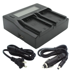 Kapaxen™ Dual Channel Battery Charger for Sony NP-FZ100 Camera Batteries