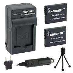 Kapaxen™ Two DMW-BCL7 Batteries & Charger Kit with Bonu Mini Tripod for Panasonic Lumix Cameras