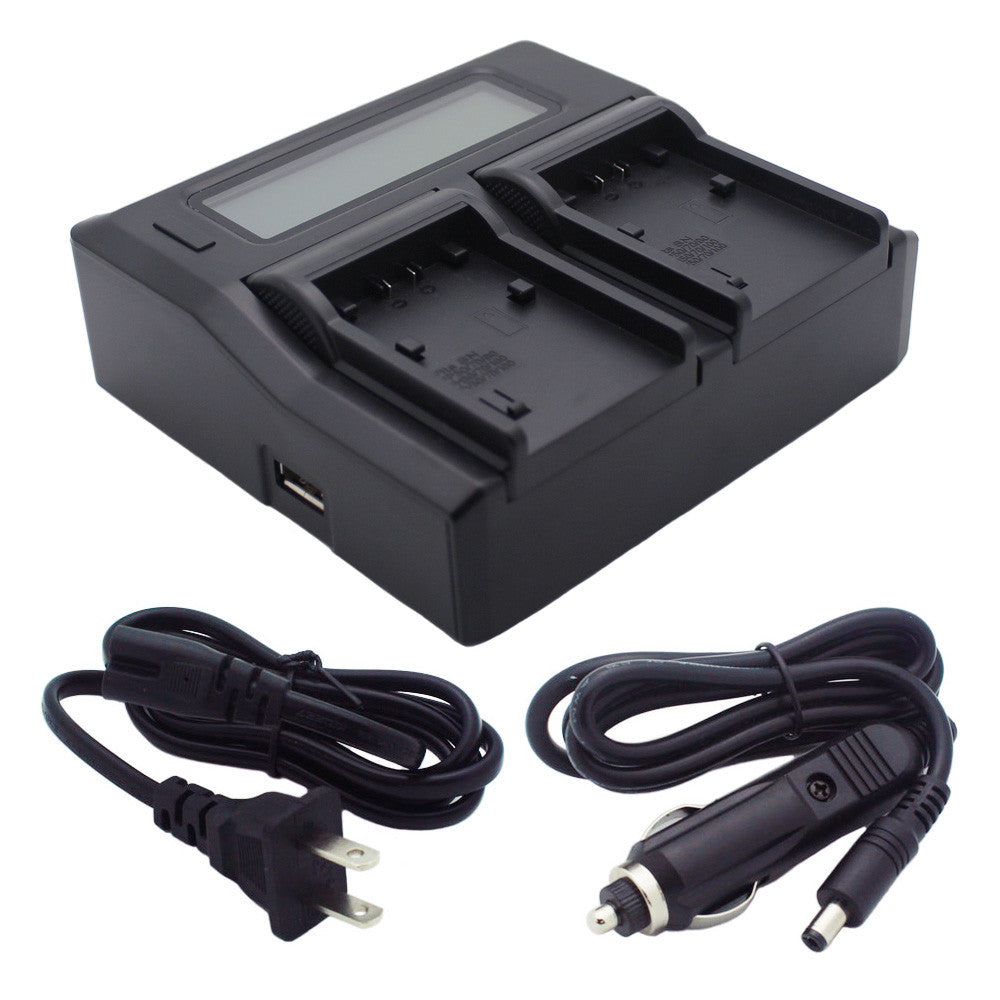 Kapaxen™ Dual Channel Battery Charger for Sony NP-FV30 NP-FV40 NP-FV50 NP-FV70 NP-FV90 NP-FV100 Camcorder Batteries