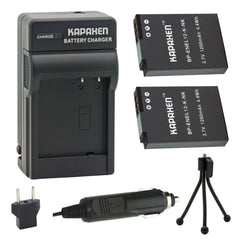 Kapaxen™ Two EN-EL12 Batteries and MH-65 Charger Kit With Bonus Mini Tripod for Nikon Coolpix and KeyMission Cameras