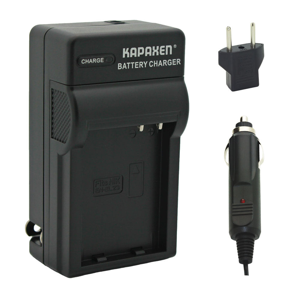 Kapaxen™ MH-67P Charger for Nikon EN-EL23 Battery