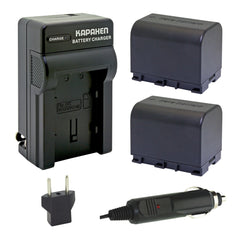 Kapaxen™ Two BN-VG121 DATA Batteries and AA-VG1 Charger Kit for JVC Camcorders