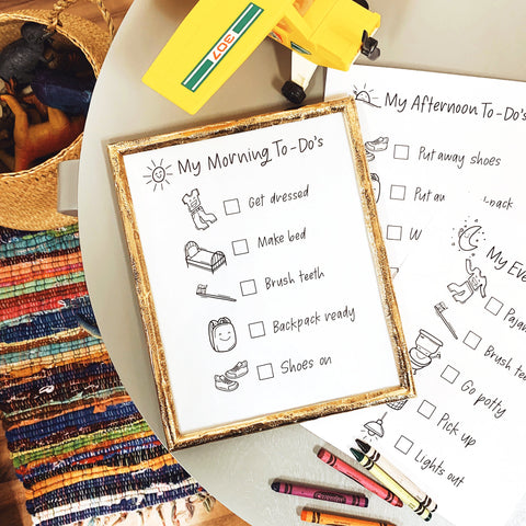 THREE PACK KIDS ROUTINE LISTS