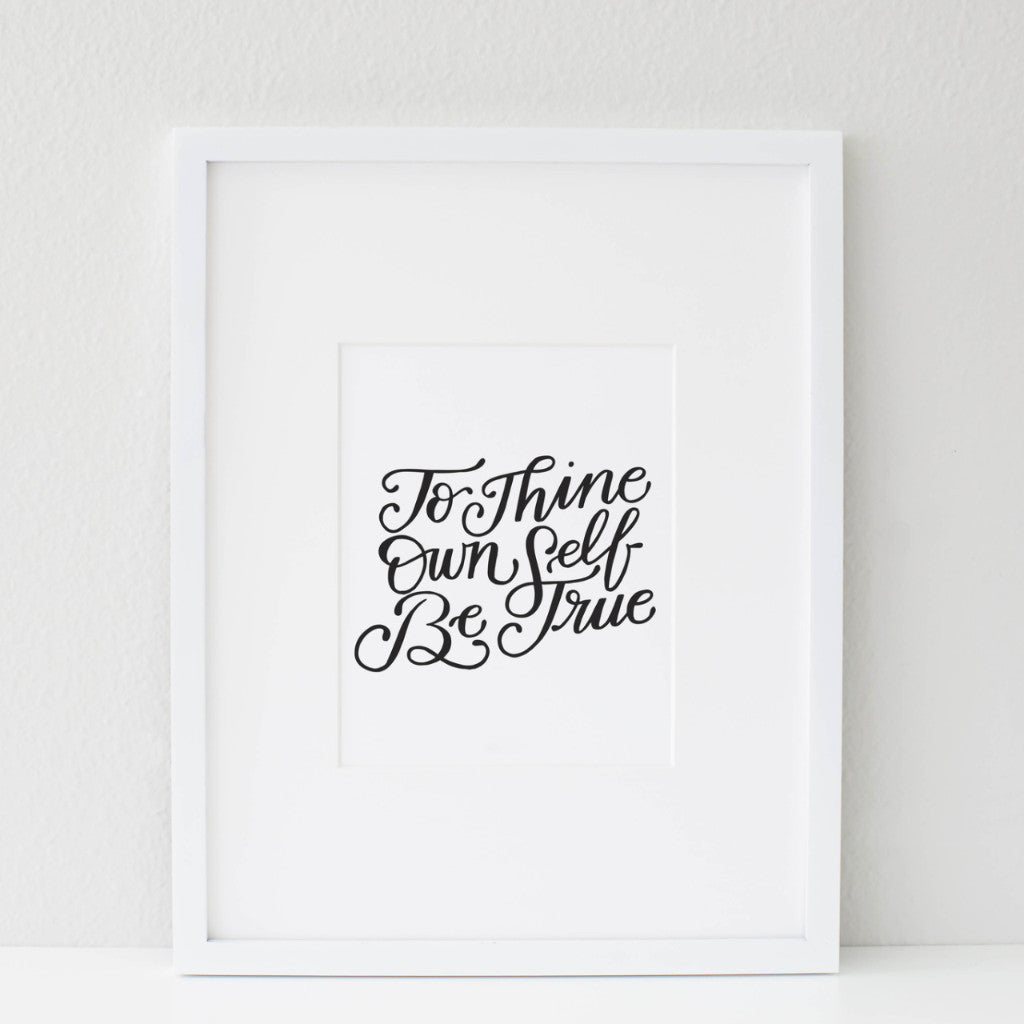 PRINTABLE / BE TRUE