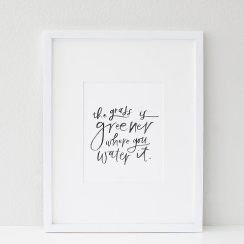 PRINTABLE / GRASS IS GREENER