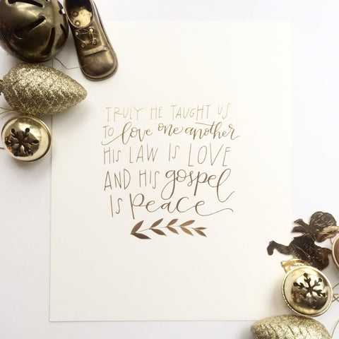 LOVE ONE ANOTHER 8X10 HOLIDAY PRINT