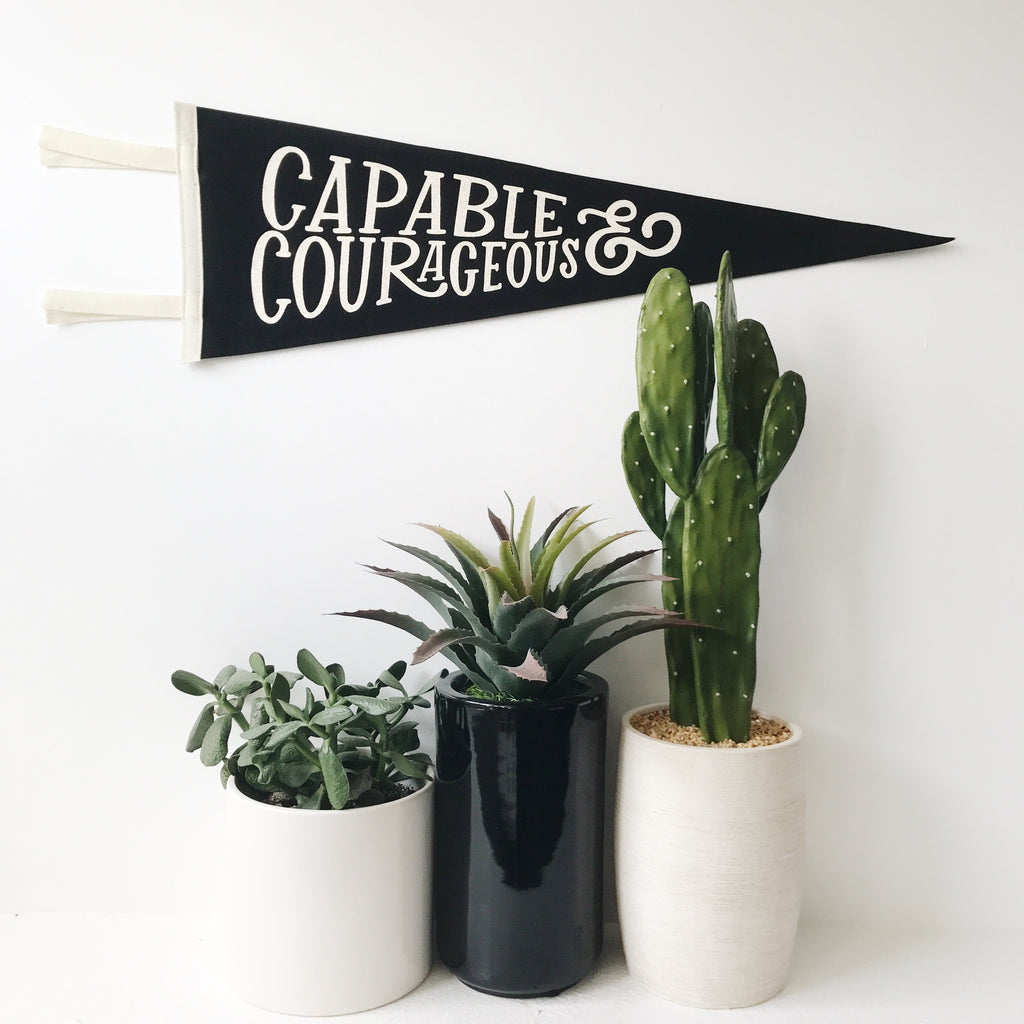 CAPABLE AND COURAGEOUS PENNANT