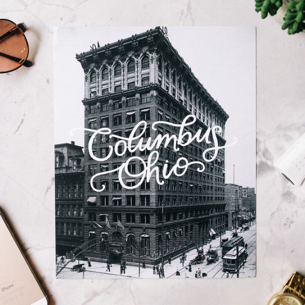COLUMBUS, OHIO 8X10 PRINT, VERTICAL