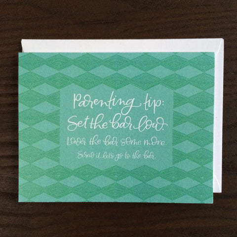 CLEARANCE: LET'S JUST GO TO THE BAR GREETING CARD