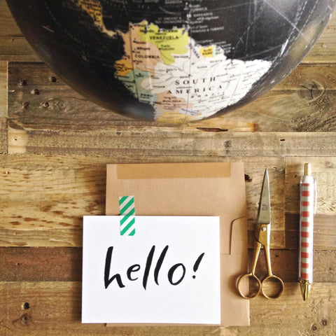 HELLO CARD, SET OF SIX