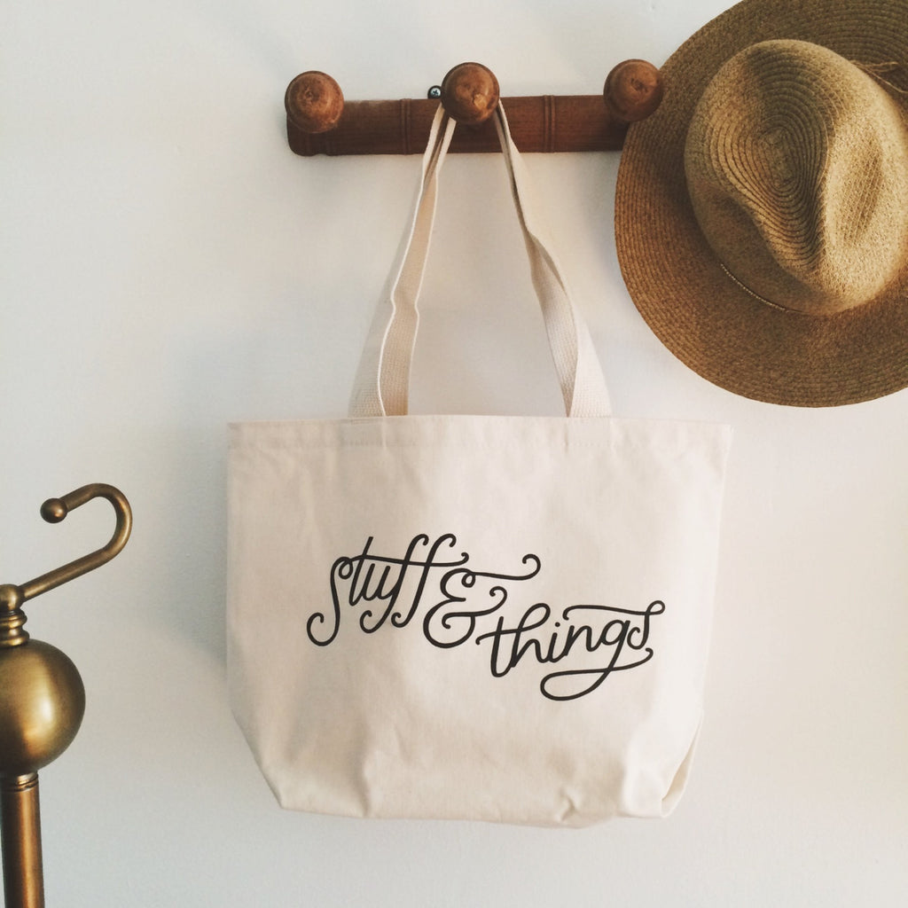STUFF & THINGS HEAVY CANVAS TOTE