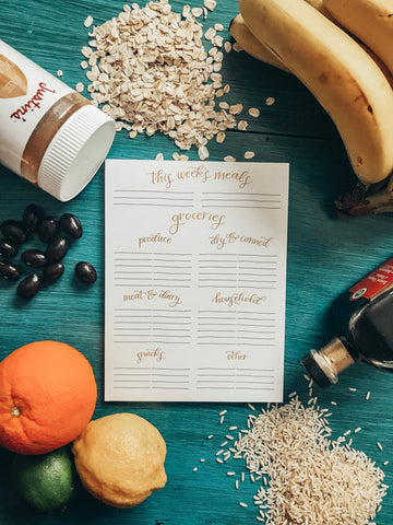 GROCERY LIST NOTEPAD (MAGNETIC!)