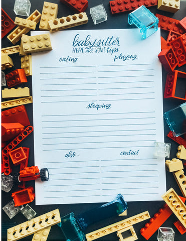 BABYSITTER NOTEPAD (MAGNETIC!)