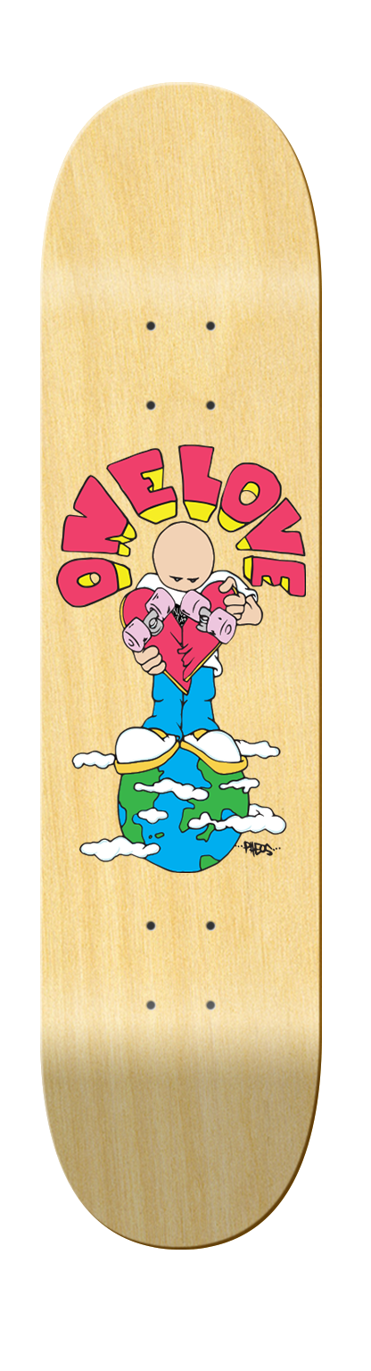 "Crucial Guest Artist Dan Pheo ""One Love Deck"" - Crucial Skate Company"