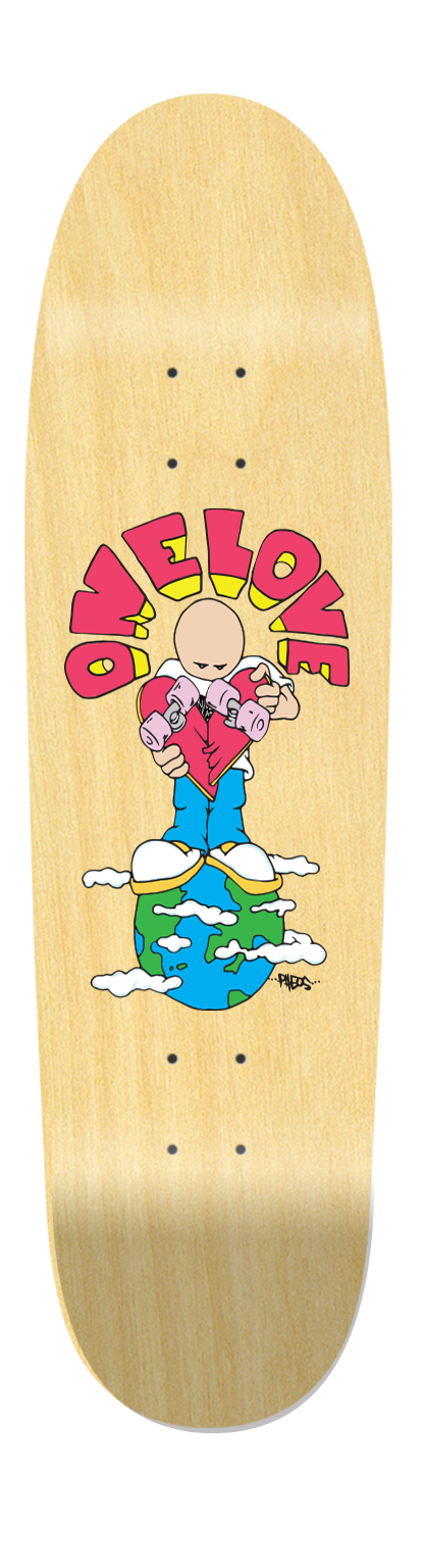 "Crucial Guest Artist Dan Pheo Old School ""One Love Deck"" - Crucial Skate Company"