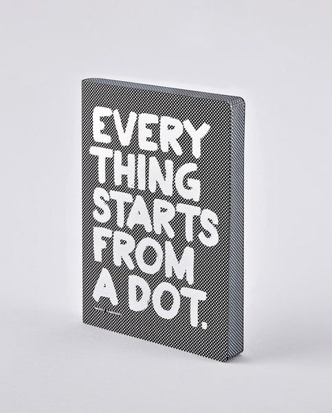 NOTEBOOK GRAPHIC: EVERYTHING STARTS FROM A DOT
