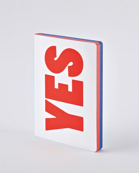 NOTEBOOK GRAPHIC: YES - NO RED/BLUE
