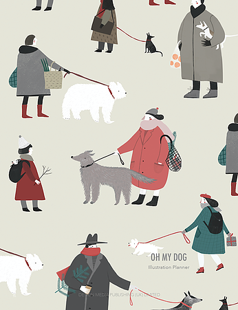 OH MY DOG. Illustration Planner