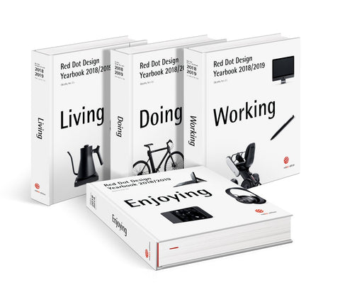 RED DOT DESIGN YEARBOOK 2018/2019. Living, Doing, Working & Enjoying (4 Voll.)