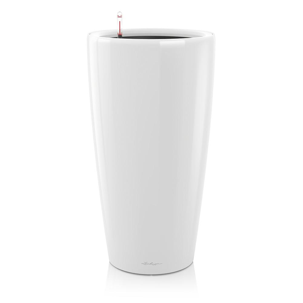 Lechuza Rond 32 planter - white - My City Plants