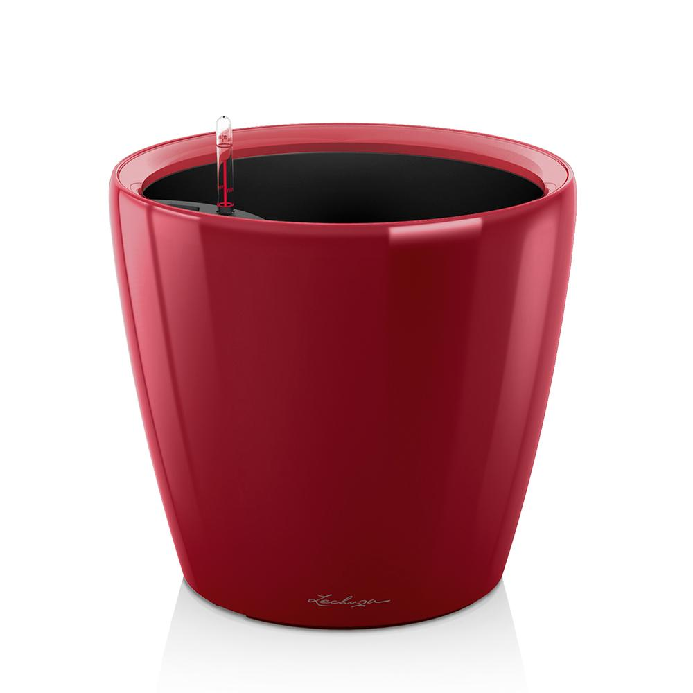 "Lechuza Classico 14"" Self-watering Planter - Red"