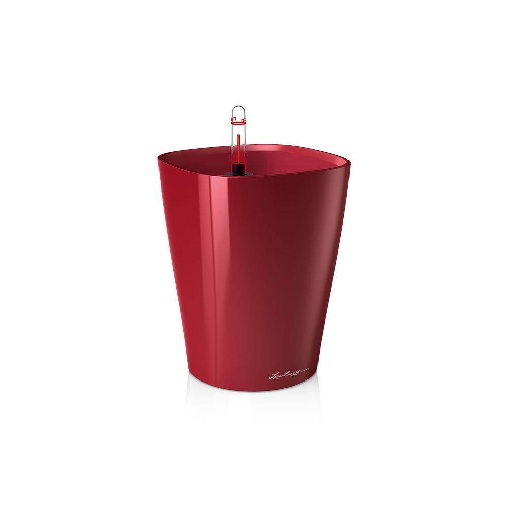 Lechuza Deltini Self-watering Planter - Scarlet Red