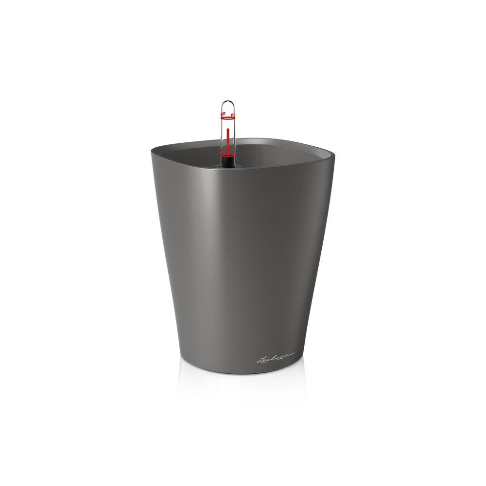 Lechuza Deltini Self-watering Planter - Charcoal Metallic