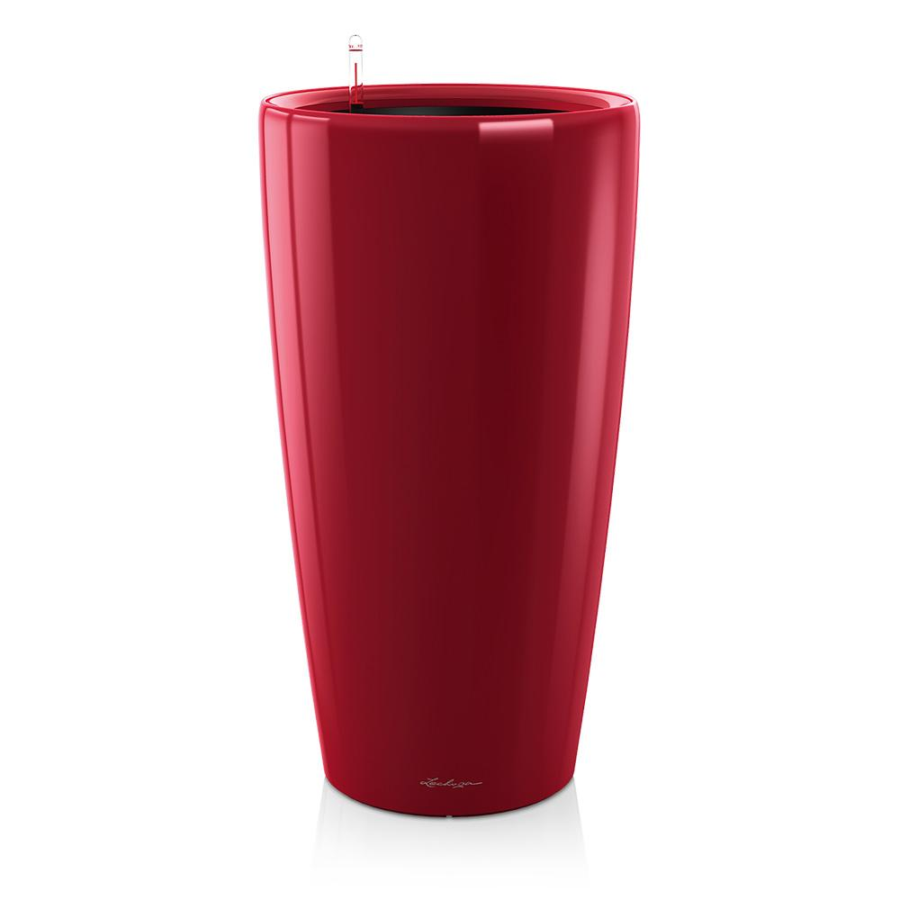 Lechuza Rondo Self-watering Planter - Scarlet Red