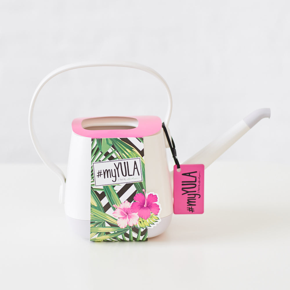YULA Watering Can White/Gray Semi-gloss - Shop Online - My City Plants
