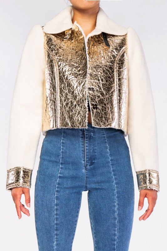 Jazzy Metallic Jacket