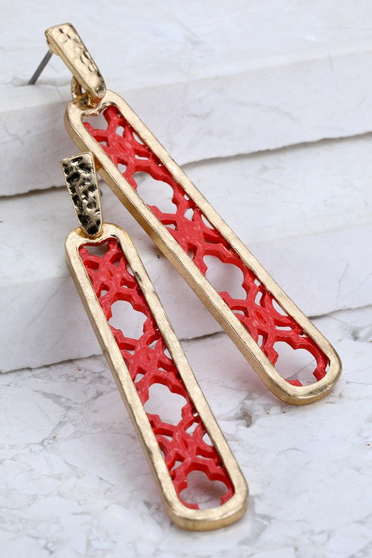 Hammered Filigree Earrings