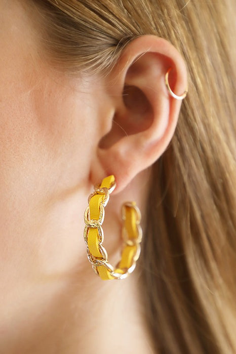 Chanel Chain Hoop Earrings