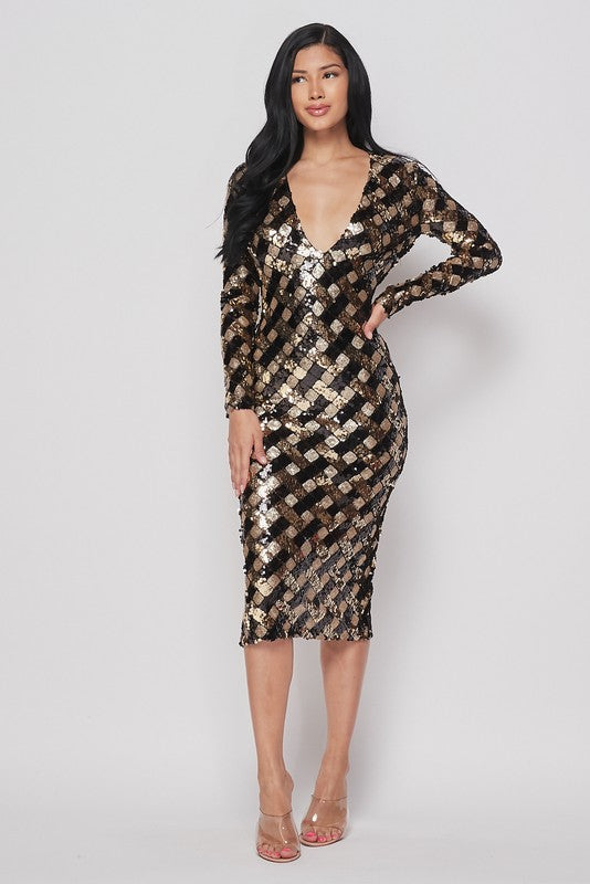 Alana Sequins Dress