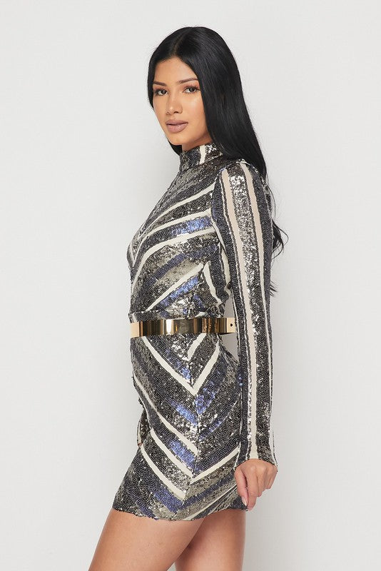 Janelle Sequins Dress
