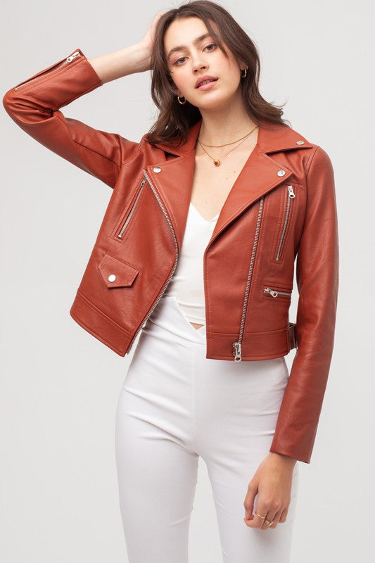 Stacie Leather Jacket