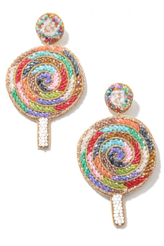 Lollipop Beaded Earrings