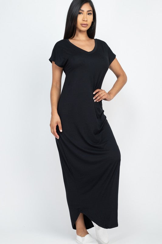 Ava Short Sleeve Maxi Dress