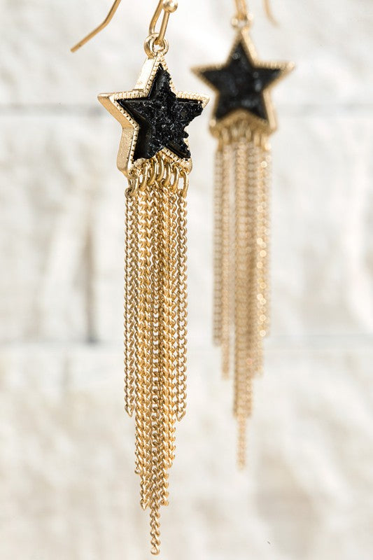 Glistening Star Earrings