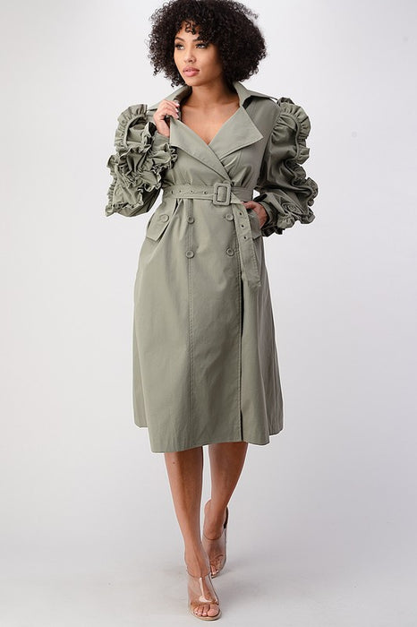 Haute Militant Trench Coat