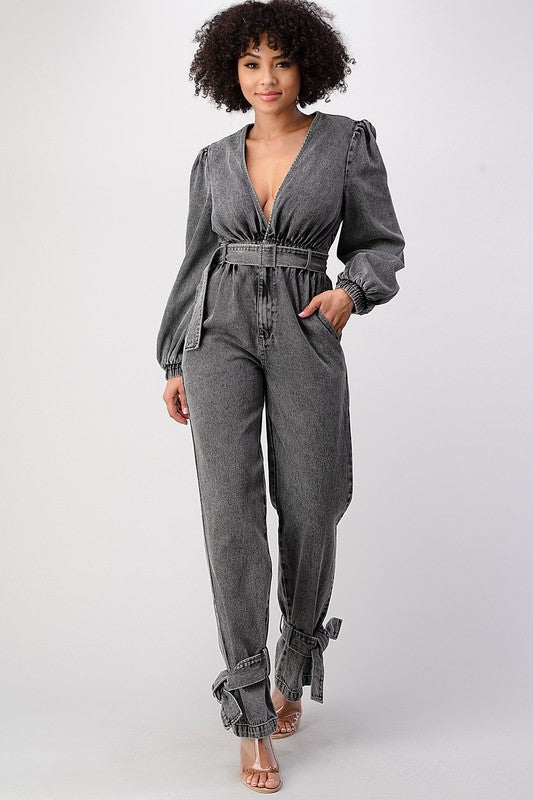 Shayla Denim Jumpsuit